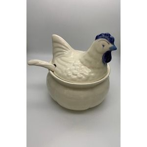 3 pc rooster tureen/casserole set